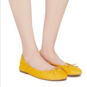 Sam Edelman Mustard Yellow Patent Leather Flats